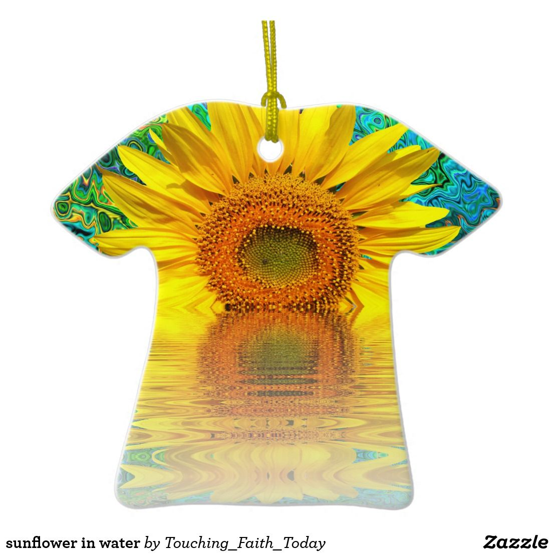 sunflower in water Keepsake ornaments, Holiday
