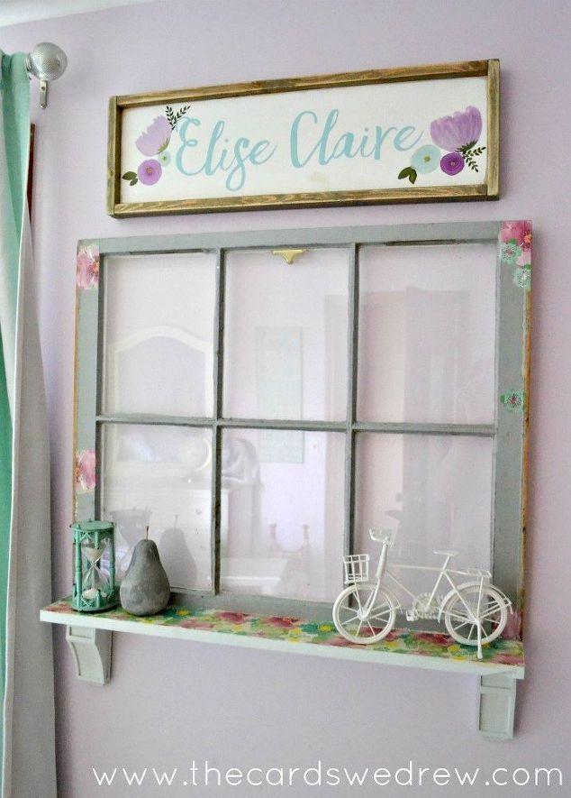 Upcycle an Old Window into a Charming Shelf | Window shelves ...