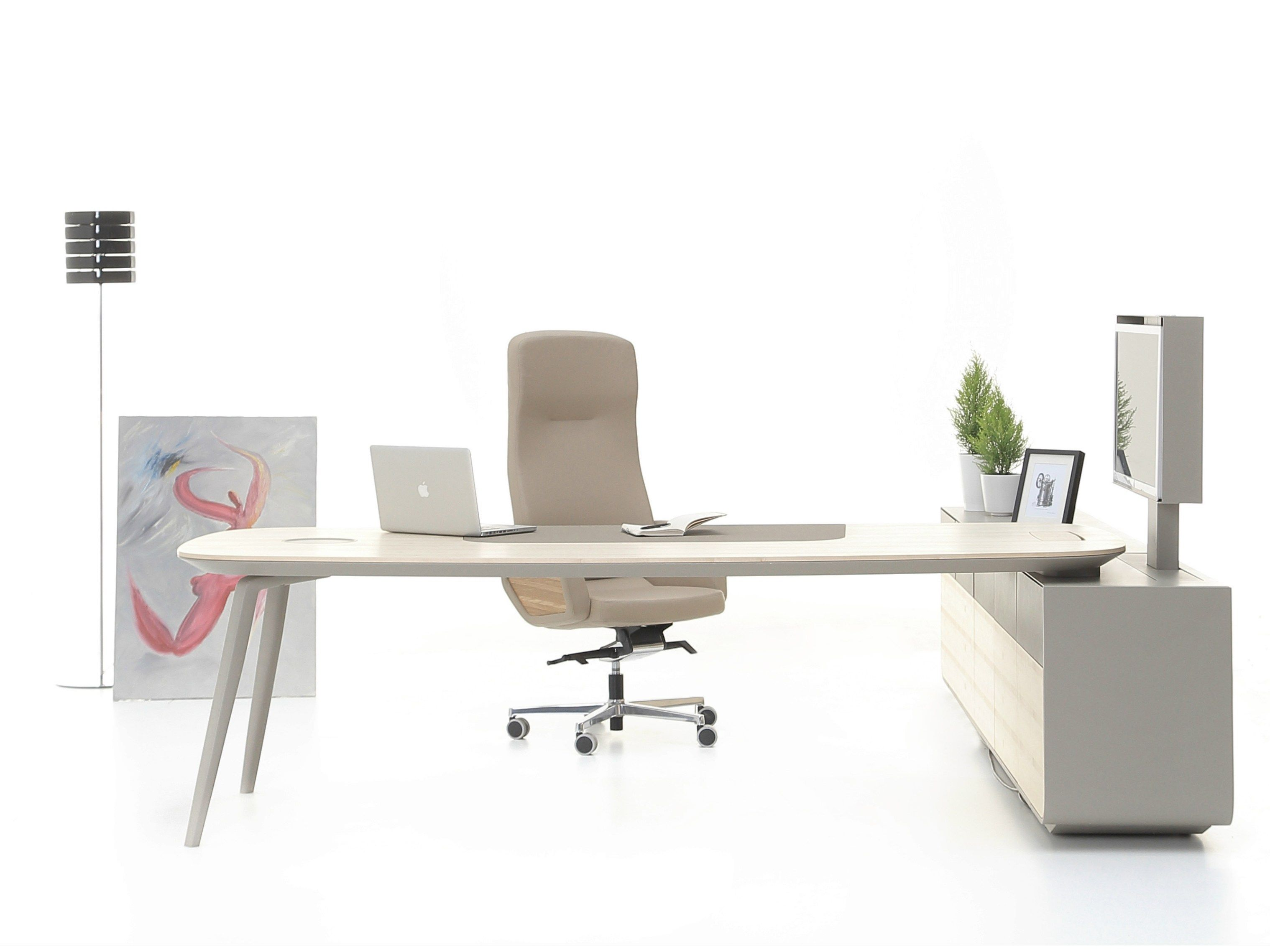 ASHBURY Office Desk With Shelves By NURUS Design Stefan Brodbeck
