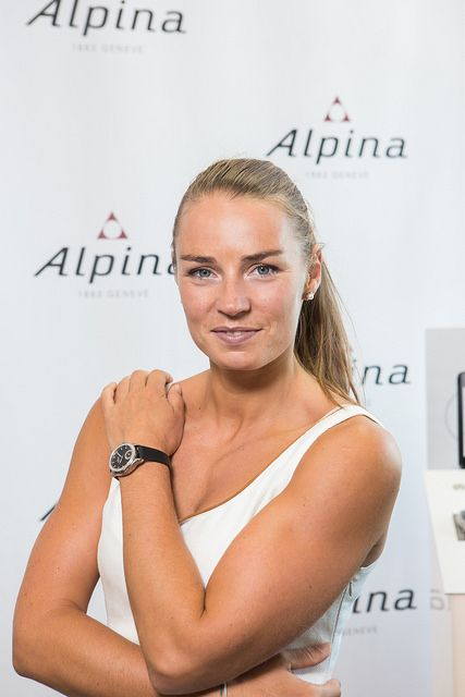 Tina Maze, Alpina Watches Ambassadress with her Alpina Horological Smartwatch ref. AL-285BTD3CD6 | by Alpina Watches