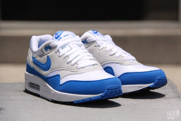 wholesale dealer 860ef fc3d4 Nike Air Max 1 QS Varsity Blue Neutral Grey