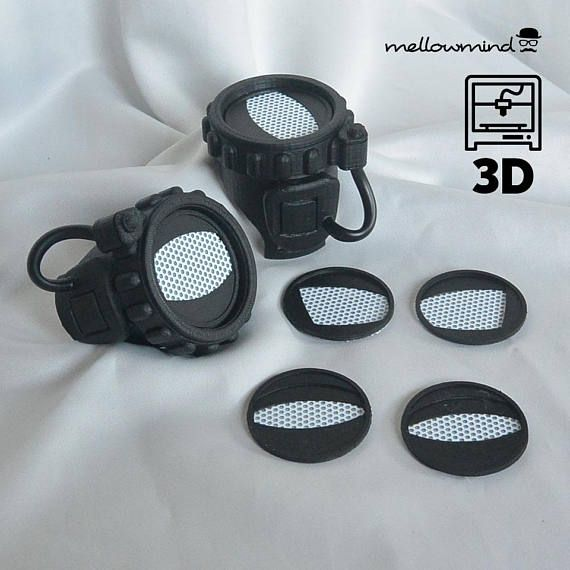 ab960ad5999 Spiderman Homecoming homemade goggles 3D model for 3D printing ...