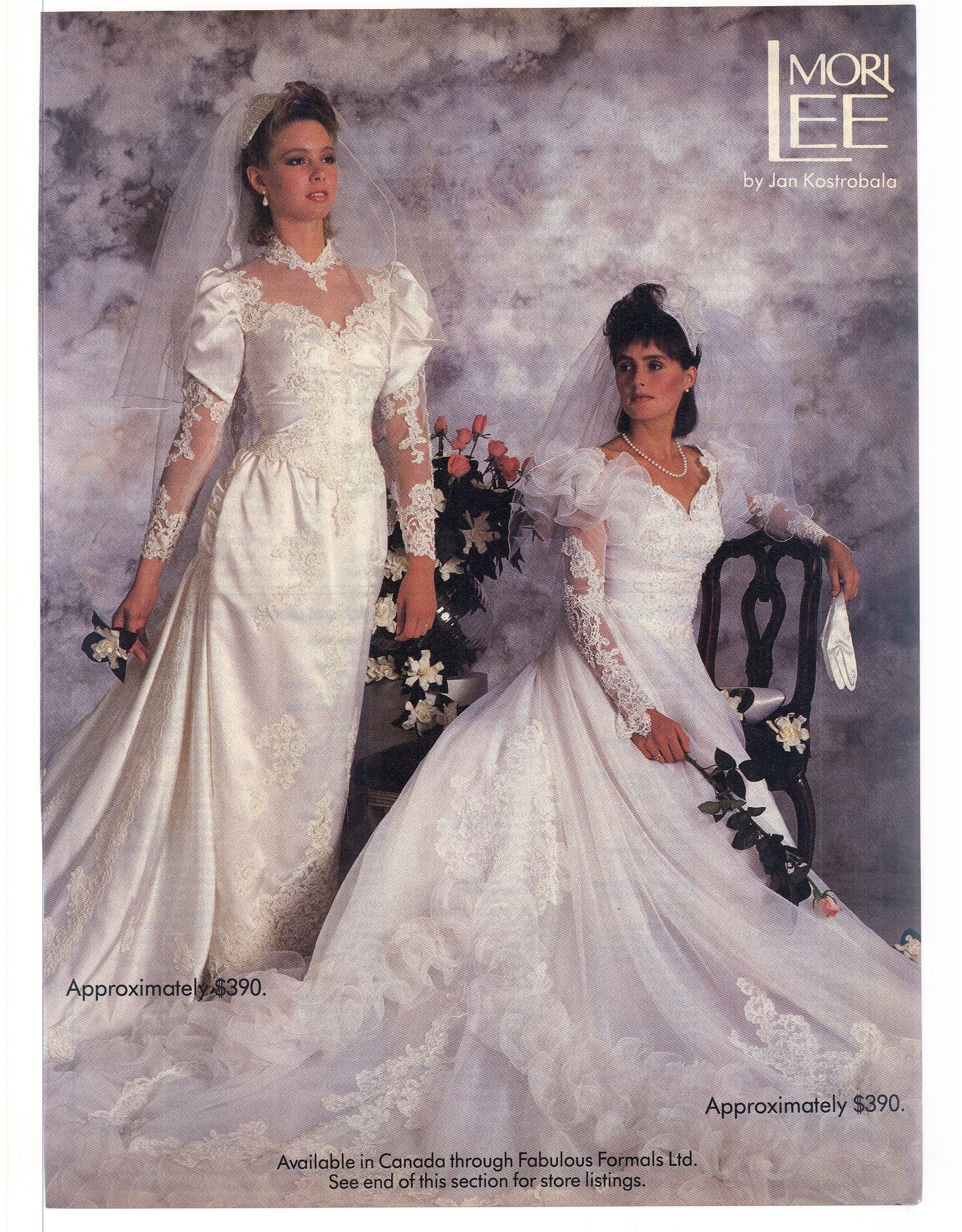 Modern Bride 1986 Feb March 1980s Wedding Dress Gowns Vintage Bridal