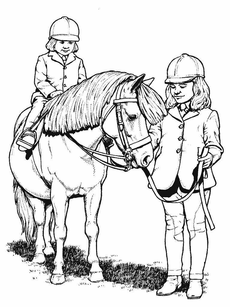 Equitacion Para Ninos Imprimir Y Colorear Caballo Para Colorear Paginas Para Colorear Dibujos
