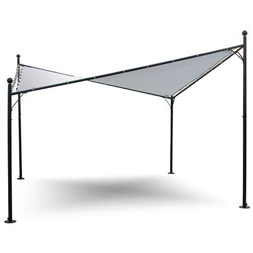 Gazebo con copertura a vela 4x4m struttura in ferro per arredo giardino esterno idee giardino - Struttura in ferro per casa ...