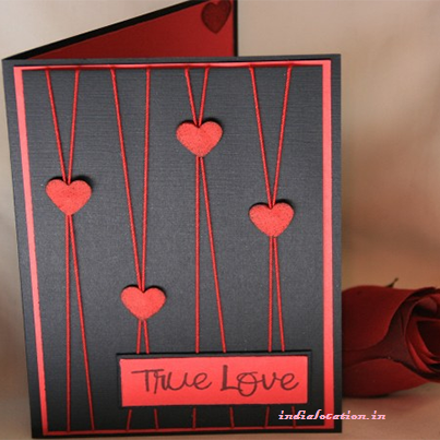Yes it not too difficult to make a Hand Made Card on this – How to Make Valentine Greeting Card