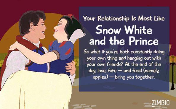 I took Zimbio's Disney couple quiz & my relationship is like Snow