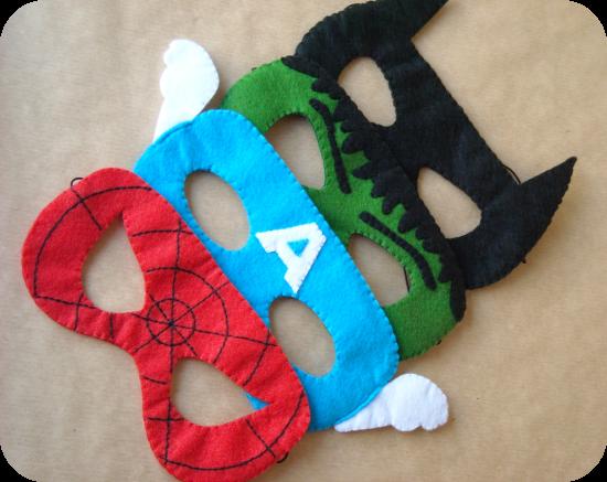 mascaras de super hroes para regalarle a los nios invitados a la fiesta de cumpleaos de