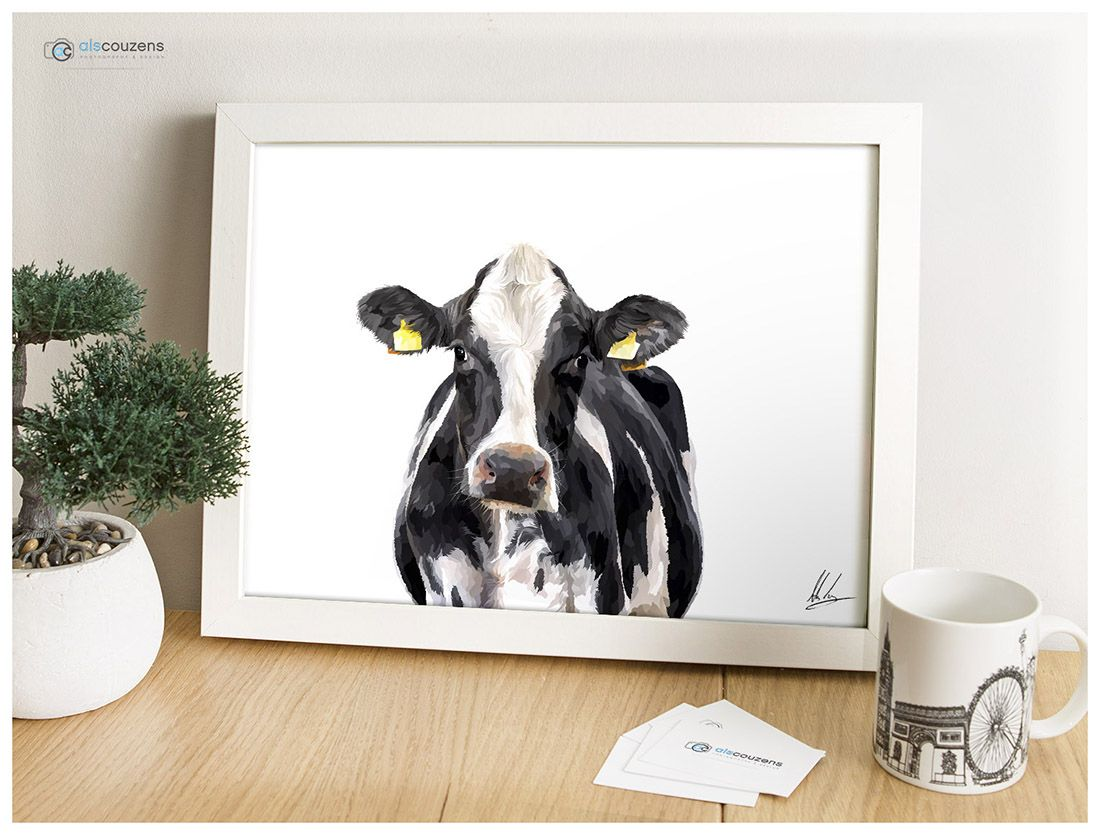 Cow Gifts, Cow Painting, Cow Art, Friesian, Farm Animals, Dairy,