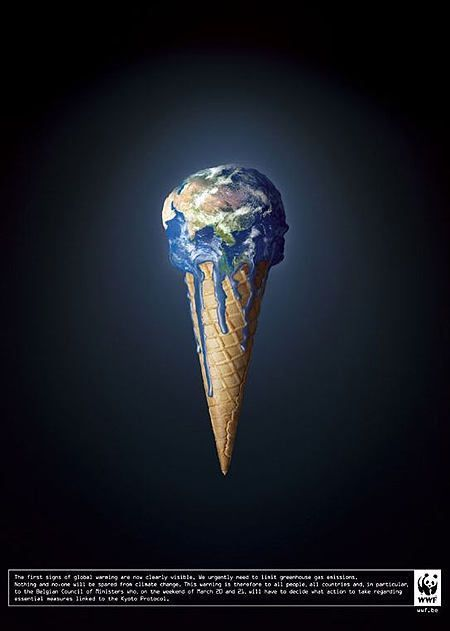 Global Image Message Portrays Warming Words This Image