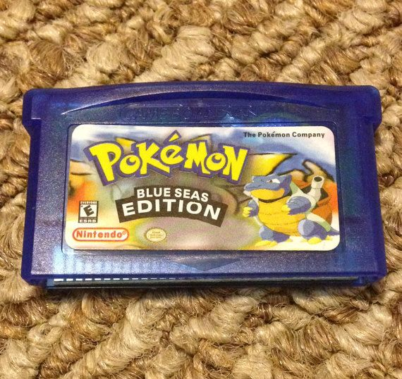 Pokemon Blue Seas Fan Made Custom Game Boy Advance Game  GameBoy GBA     Pokemon Blue Seas Fan Made Custom Game Boy Advance Game  GameBoy GBA Blue  Sea Blueseas Saves