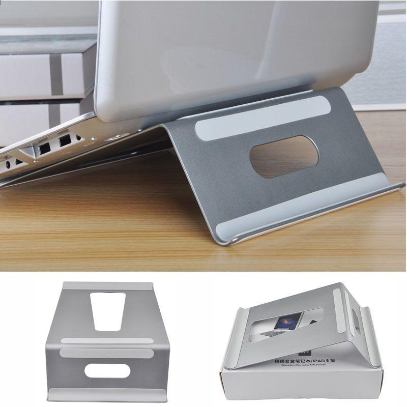 double usage en aluminium ordinateur portable support reglable titulaire d ordinateur portable bureau dock tablet support refroidisseur de refroidissement