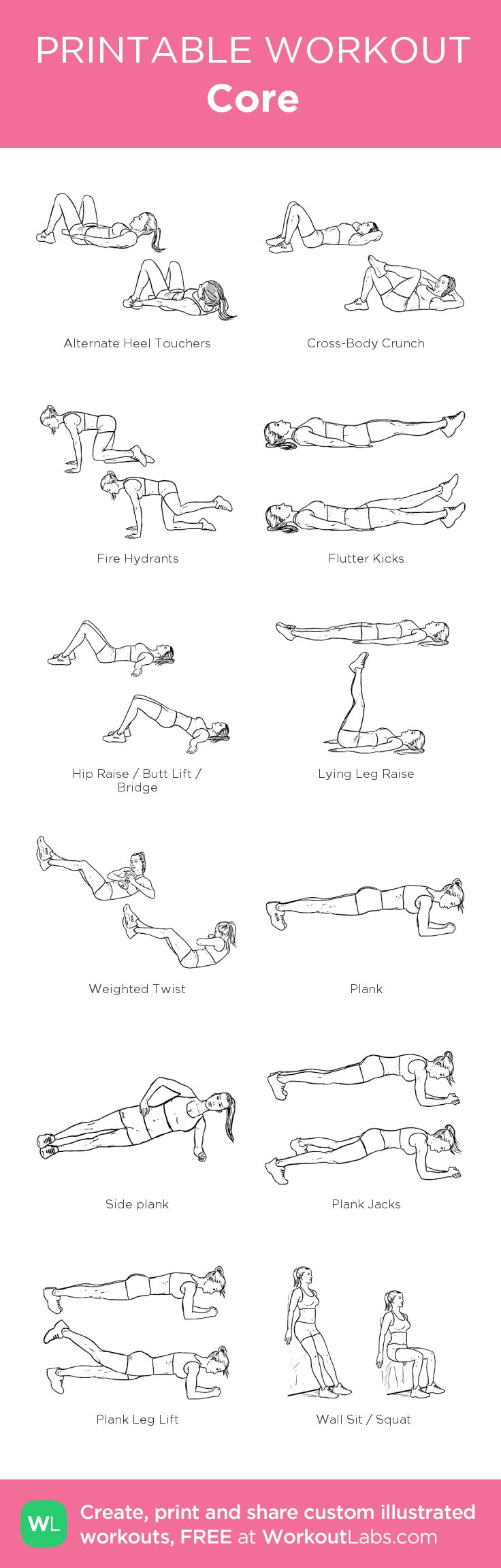 This is a photo of Priceless Printable Ab Workouts