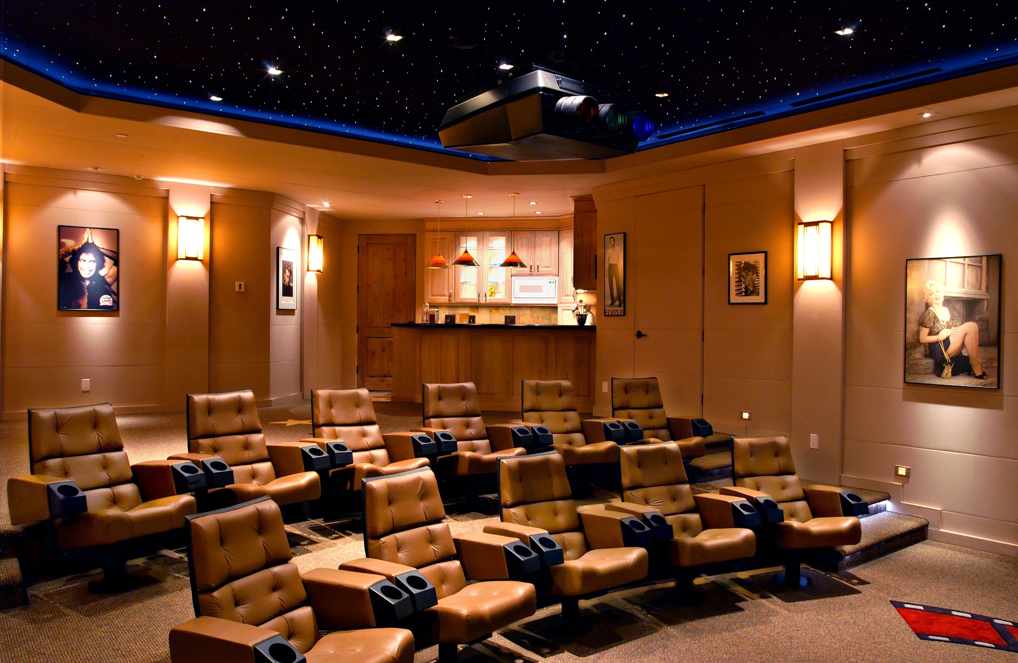 Home Theatre and Bar | mi casa | Pinterest | Theater seats and Interiors