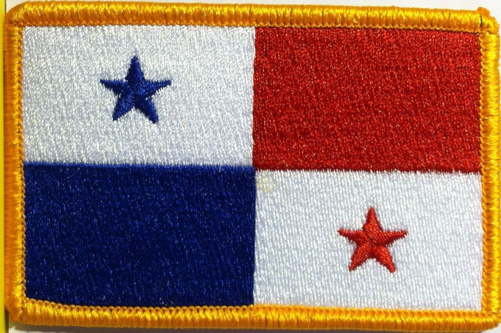 NUMBER #1 RED WHITE /& BLUE w//GOLD BORDER Iron On Patch Patriotic Military