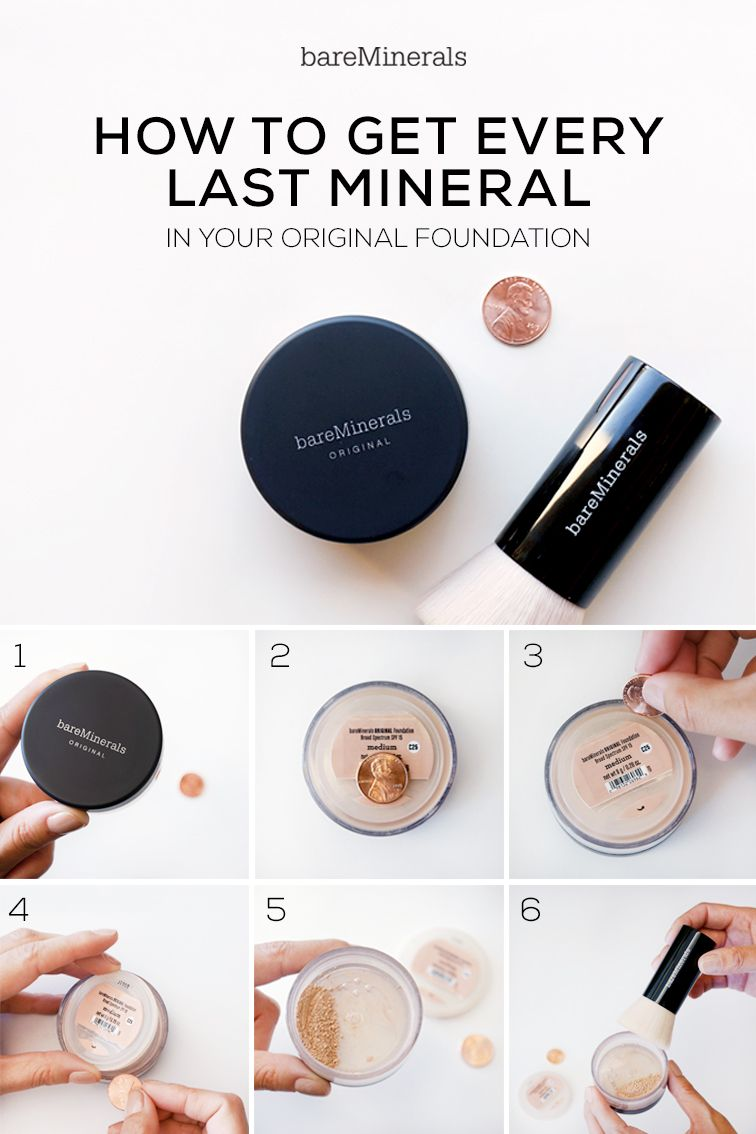 How To: Get every last mineral of your bareMinerals Original