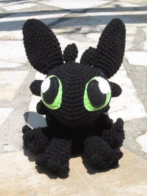 Crochet Toothless Pattern from How to Train Your Dragon | Crochet ... | 400x300