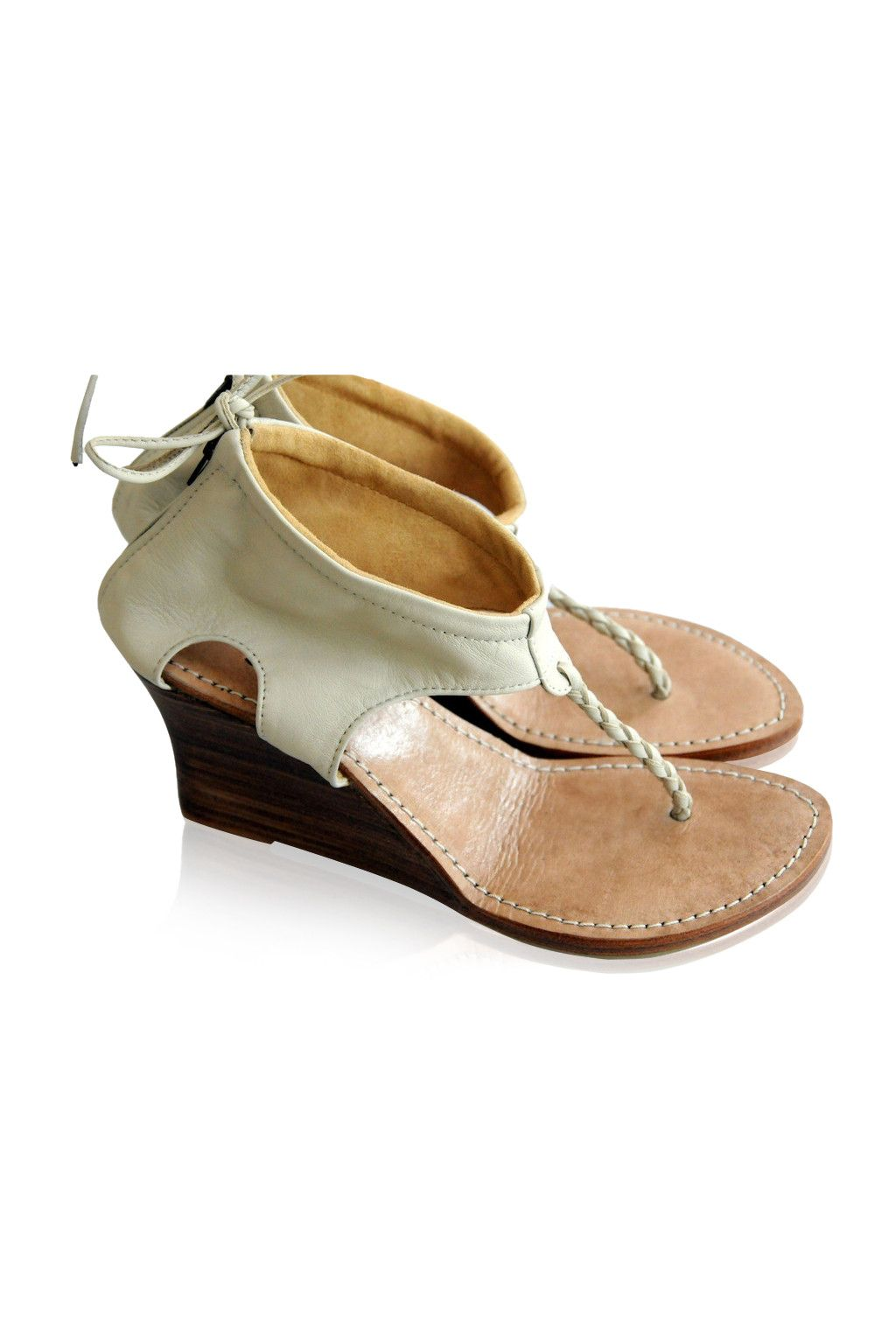 Aphrodite wedge sandals bare foot sandals wedding shoes