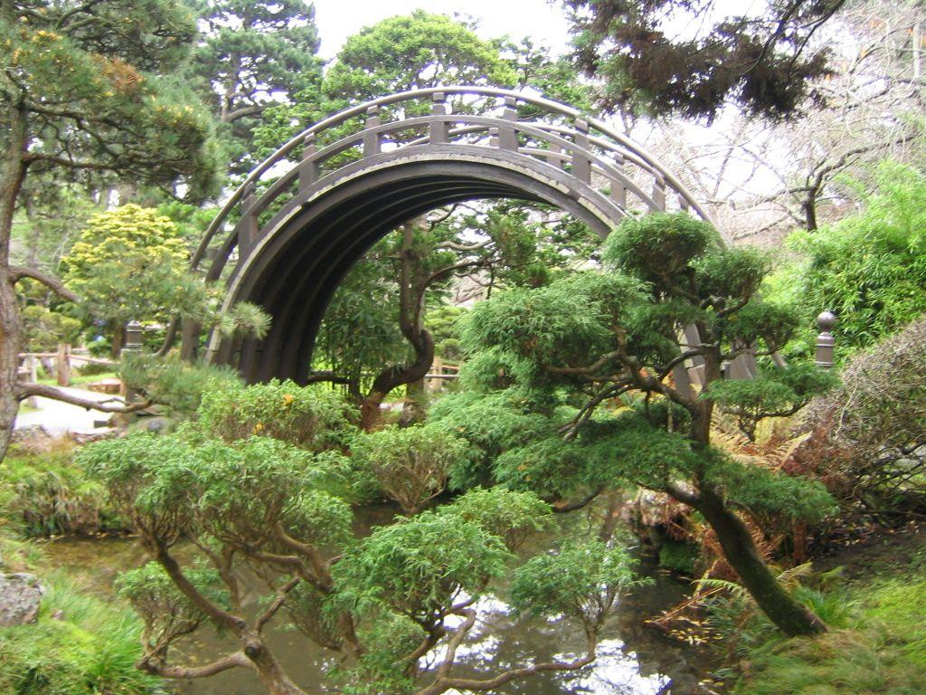Japanese Tea Garden, Golden State Park Garden bridge