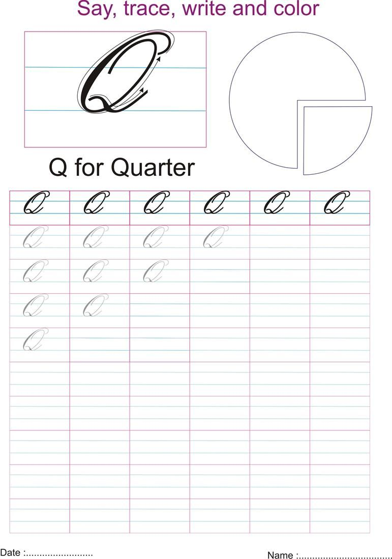 Upper Case Cursive Q : upper, cursive, Write, Capital, Cursive