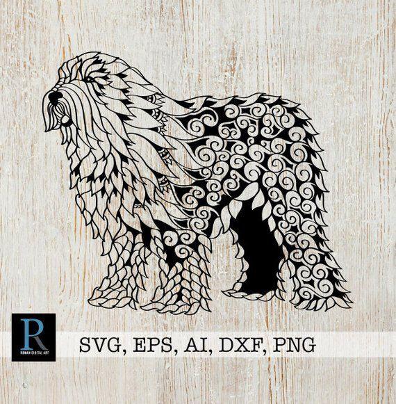 Old English Sheepdog Mandala Svg Dog Svg Design In 2020 Old
