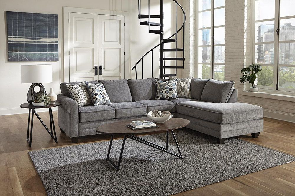Albany Crossing Smoke Sectional Sofa Sectional Sofa Transitional Sectional Sofas Albany Furniture