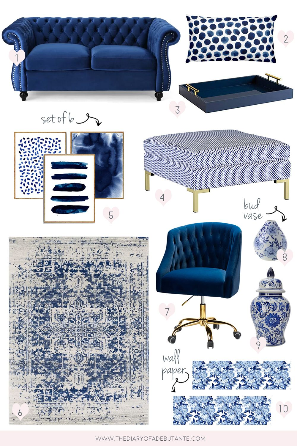 Budget-Friendly Blue and White Home Accessories and Decor Finds