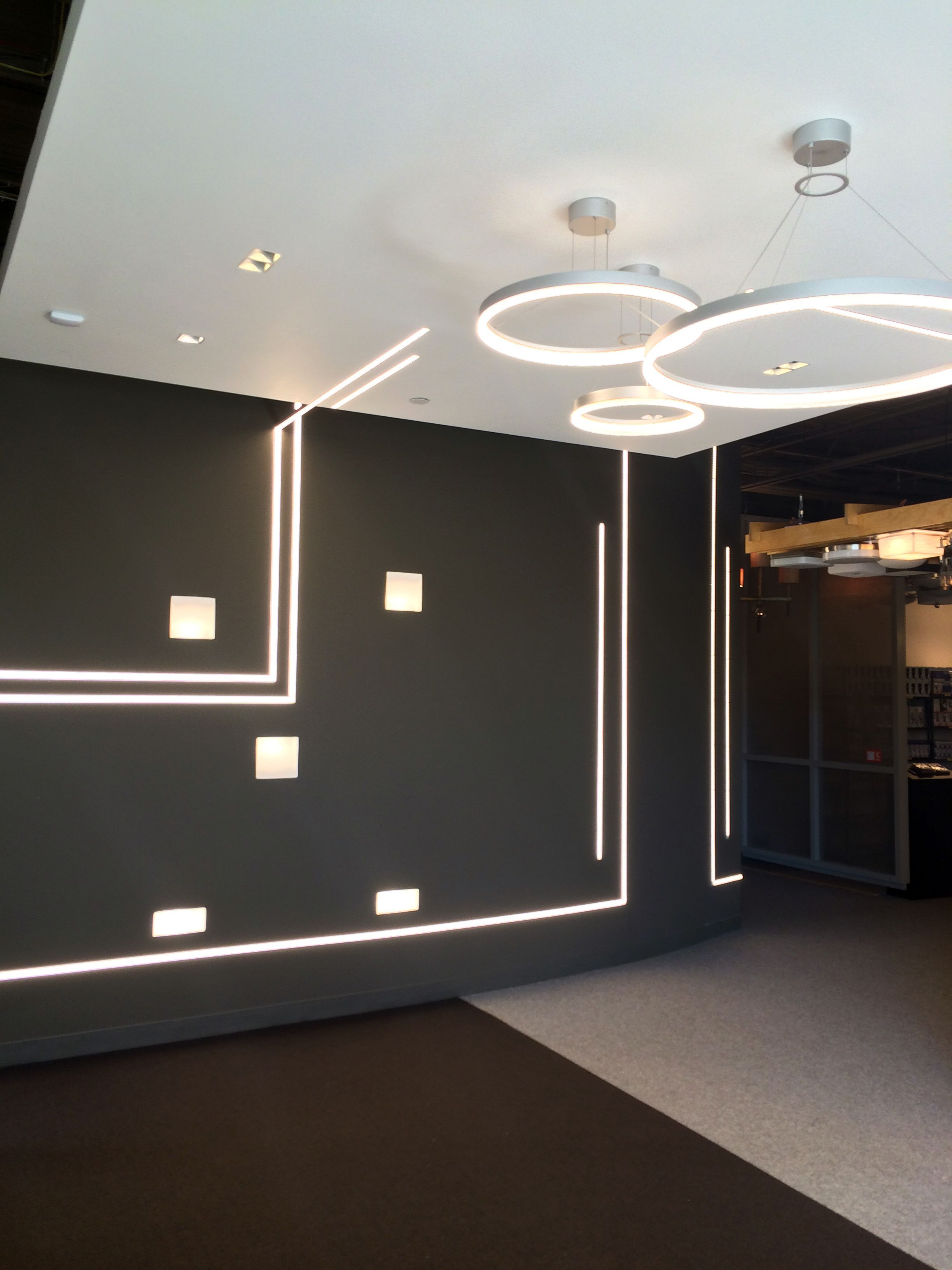 This Jesco LED Tape and Klus extrusions in the new entryway of our Waltham showroom can & This Jesco LED Tape and Klus extrusions in the new entryway of our ... azcodes.com
