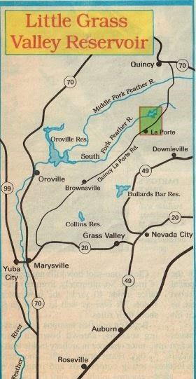 little grass valley reservoir fishing map and fishing report ...