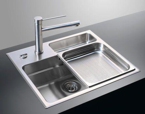 rieber waterstation cubic 600 sink waterstation cubic 600 kitchen sink from rieber the sliding sink trays - Sink In Kitchen