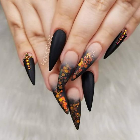 60 Must Try Nail Designs This Autumn Fall Flowers Nail Design Fall Nails Fall Nail Art Pumpkin Nails Latest Nail Designs Nail Designs Halloween Nail Designs