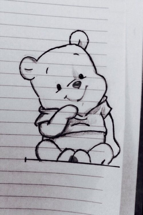 Cute Cool Drawings : drawings, Image, Heart, #adorable, #bear, #blackandwhite, #disney, #drawing, #line, #mine, #notebook, #simple, #winniethepooh, Disney, Drawings,, Drawings