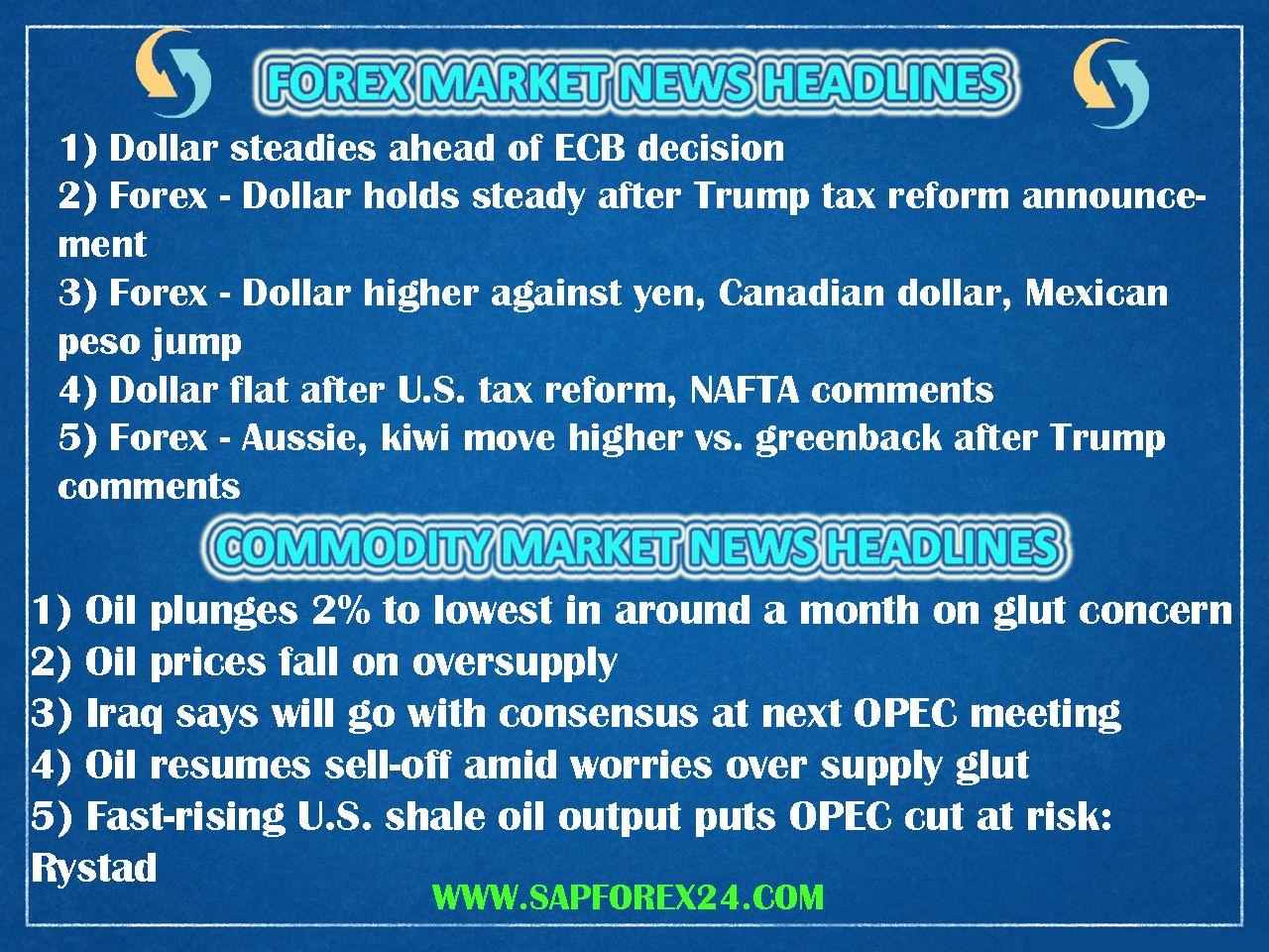 Breaking news forex market