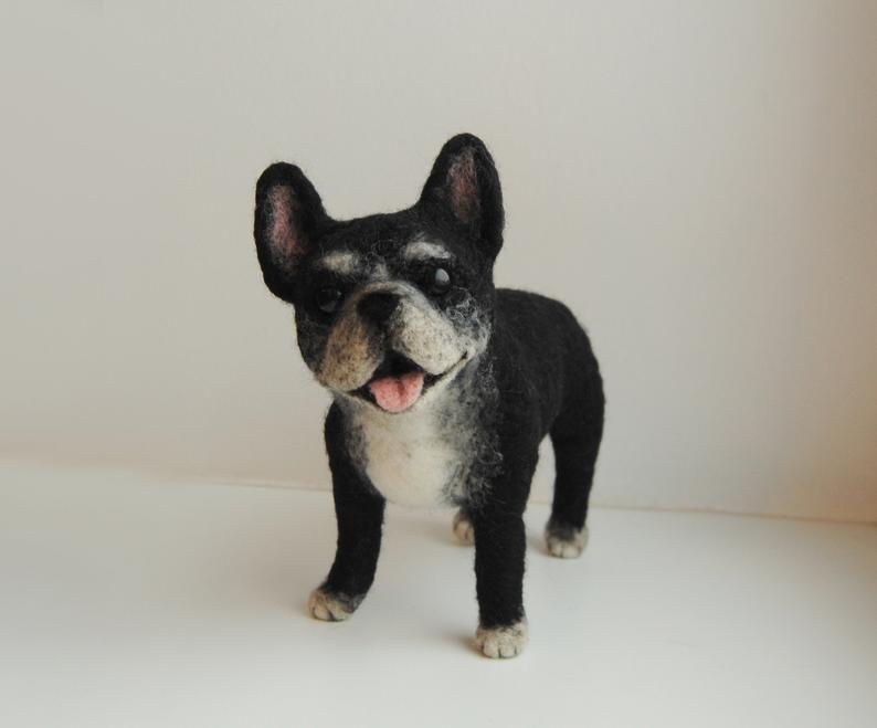 Franzosische Bulldogge Nadel Gefilzt Hund Custom Made Hund