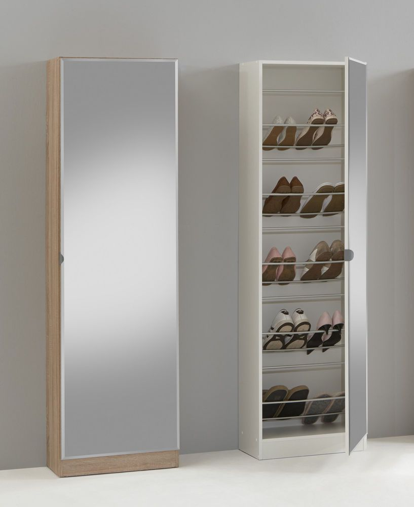 Penny 88 Mirrored Shoe Storage Cabinet Cupboard Rack Furniture Solution