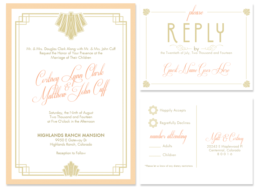 Matt cortney wedding invitations designs