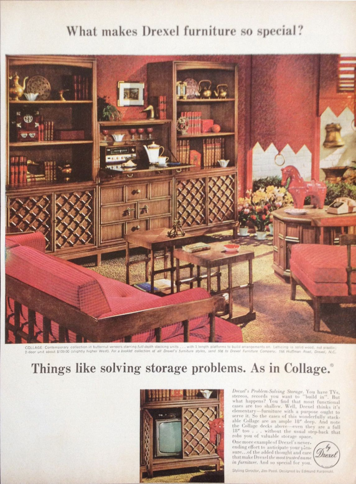 drexel dining room furniture 1960 | Drexel 1967 Collage in 2019 | Furniture, Retro room ...