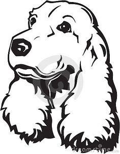 Cocker Spaniel Illustration 20140870 Jpg Tatuajes Perros Pintura Perro Siluetas Animales