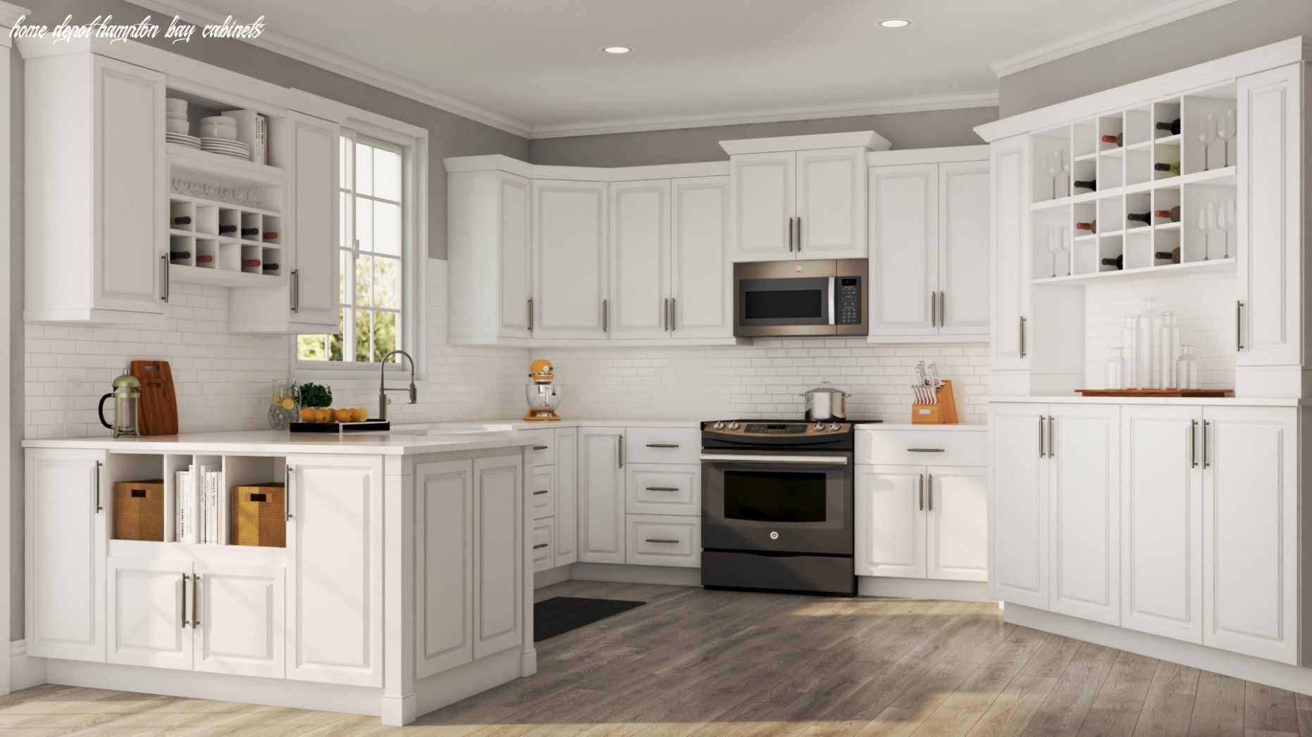 Hampton Wall Cabinets In White Kitchen The Home Depot Home Depot Hampton Bay Cabinets In 2020 New Kitchen Cabinets Custom Kitchen Cabinets Kitchen Cabinet Remodel