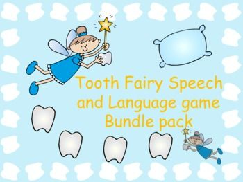 Lots Of Fun Materials With A Toothfairy Theme!! $ Covers Articulation And  Language!