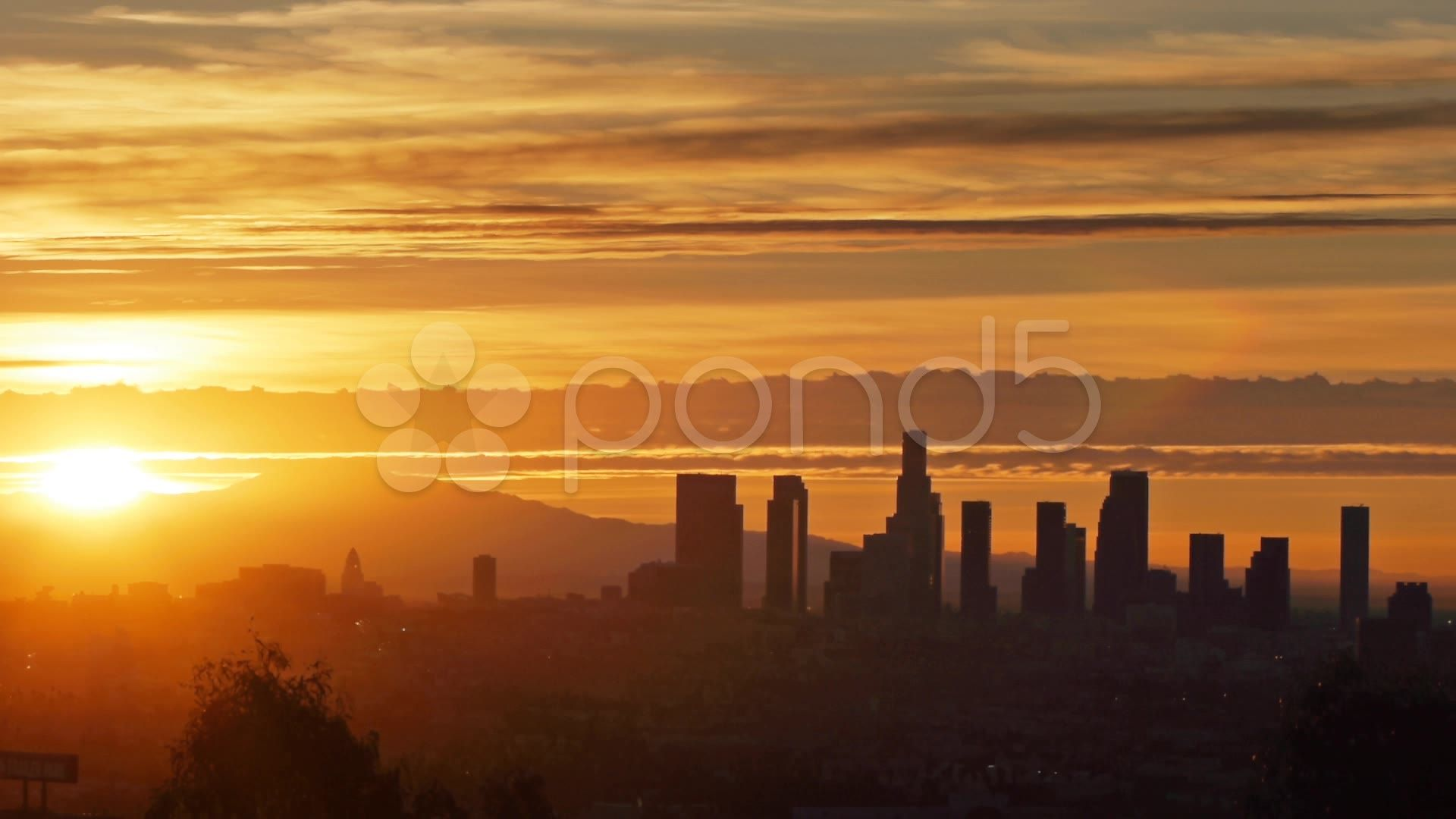 Sunrise Over Downtown Los Angeles Skyline Timelapse Stock Footage Los Angeles Sunrise Downtown Los Angeles Skyline Downtown Los Angeles Sunrise