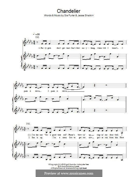 Sia chandelier piano vocal score music i love sheet sia chandelier piano vocal score aloadofball Gallery