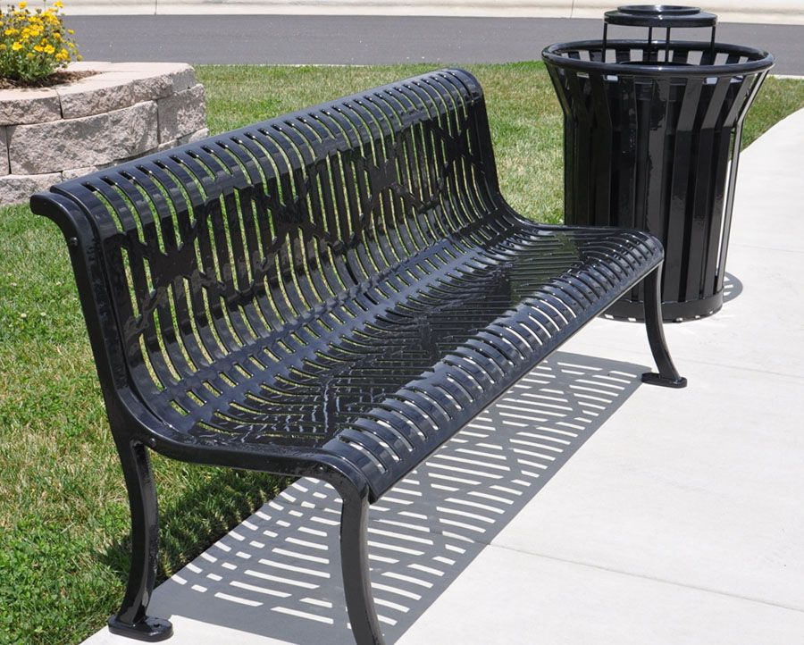 Magnificent Armless Thermoplastic Coated Diamond Bench Park Benches Bralicious Painted Fabric Chair Ideas Braliciousco