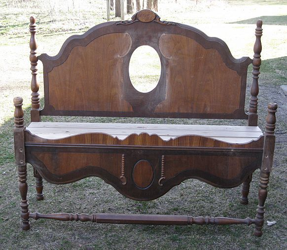 Garden Bench Old Bed Frames Old Beds Headboard Benches