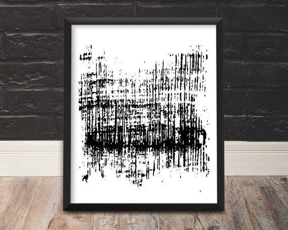 Black Modern Decor Digital Prints Digital Art Printable Download Abstract Art Minimalist Print Contemporary Art Brush Stroke Decor Download