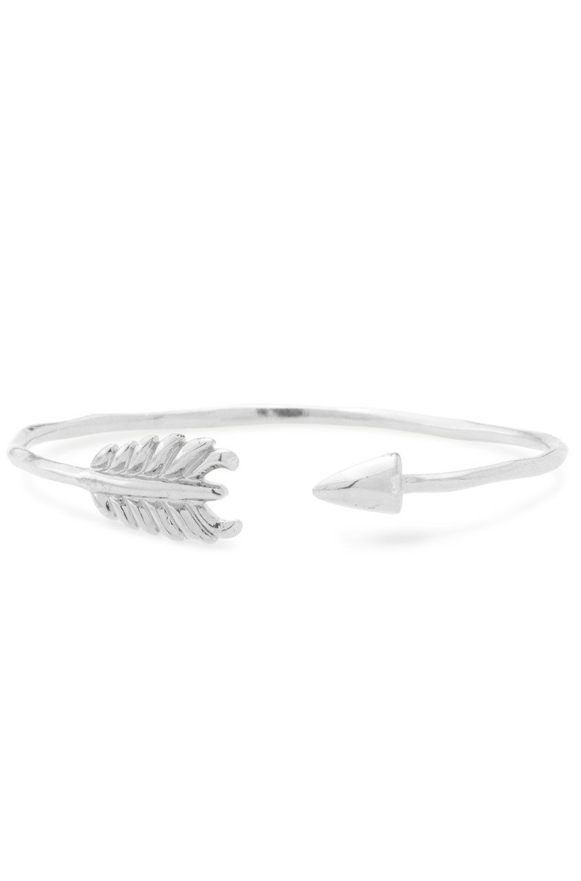 Gilded Arrow Bangle Delicate And Perfect By Itself Or