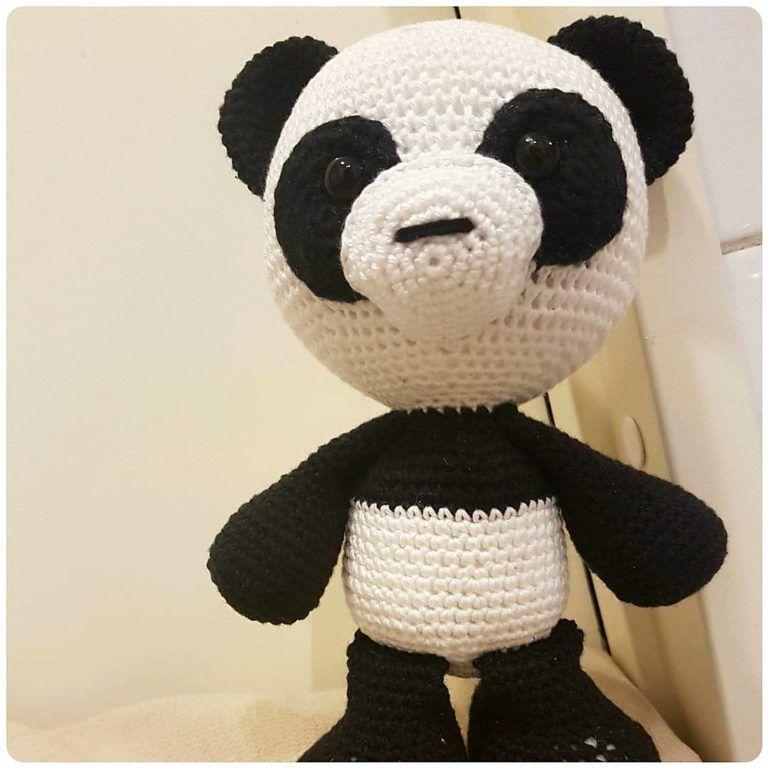 Amigurumi Panda Bola para bebê no Elo7   Belle Cose Artesanato ...   768x768