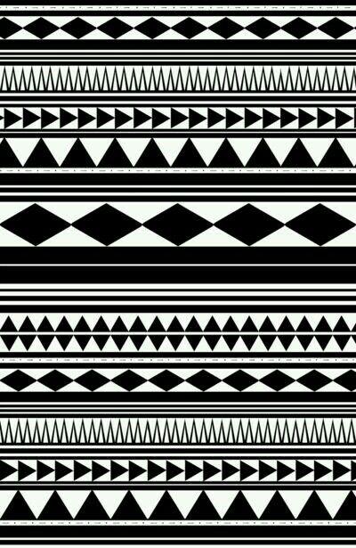 Black And White Tribal Print
