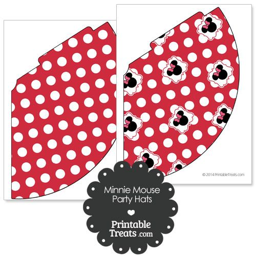 Printable Minnie Mouse Party Hats From Printabletreats Minnie