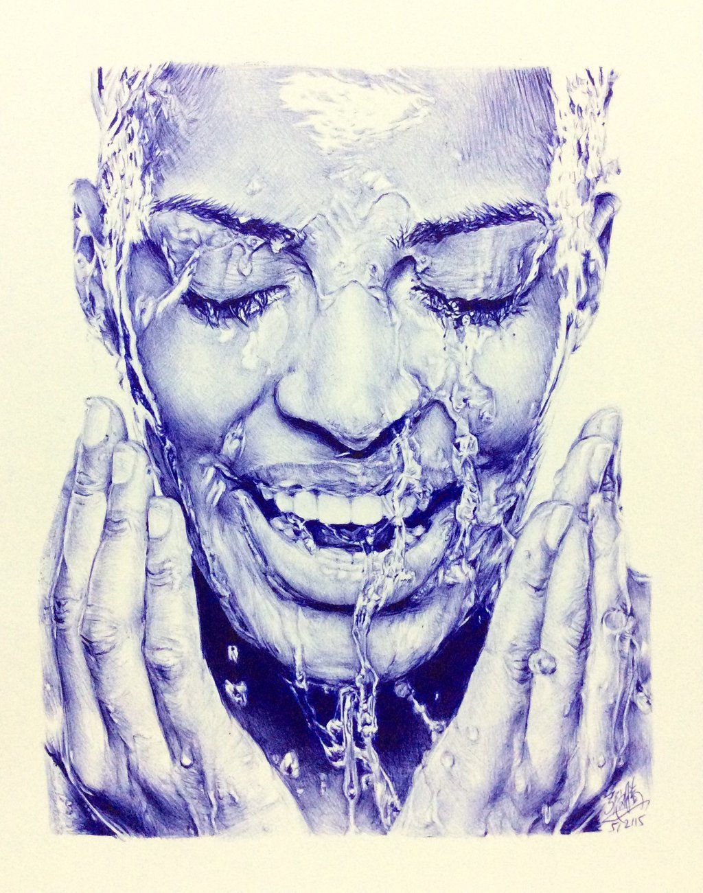 Bic ballpoint pen drawing by chaseroflight deviantart com on